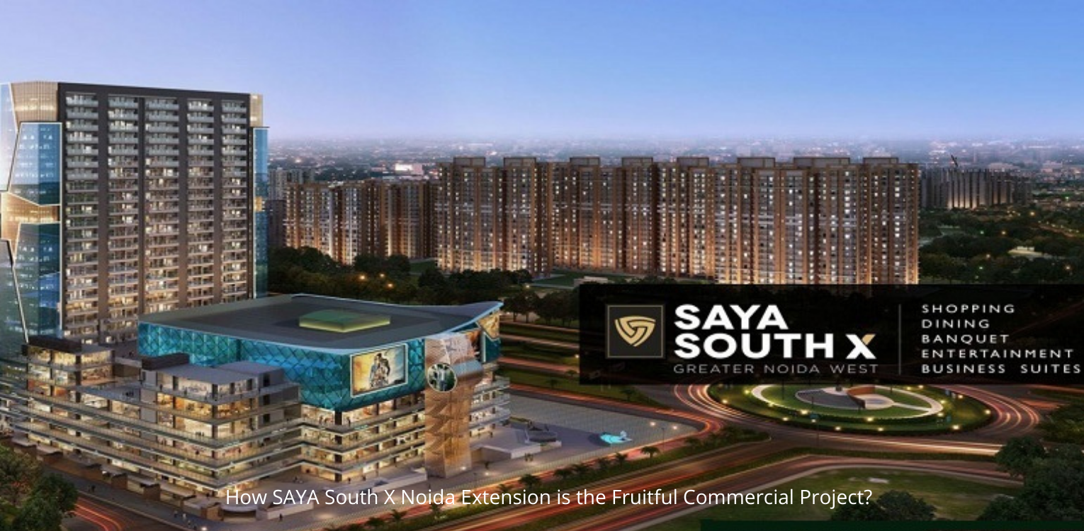 How SAYA South X Noida Extension is the Fruitful Commercial Project?